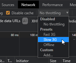 throttle network speed